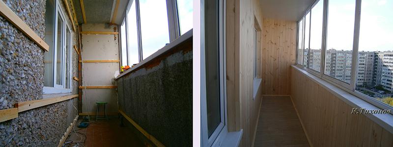 Фото ремонта балконов на 6 метров.